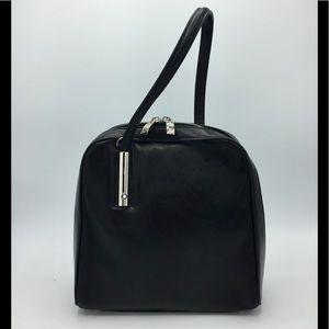 Vintage Mont Blanc Black Leather Bowler Bag